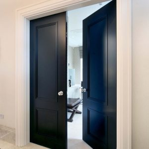 Door Type: Blenheim2AD Finish: semi-matte 'Stout' lacquer paint