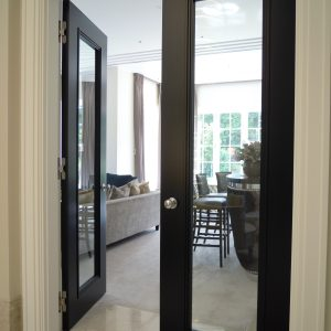 Door type: Blenheim1ADG Finish: semi-matte 'Stout' lacquer paint